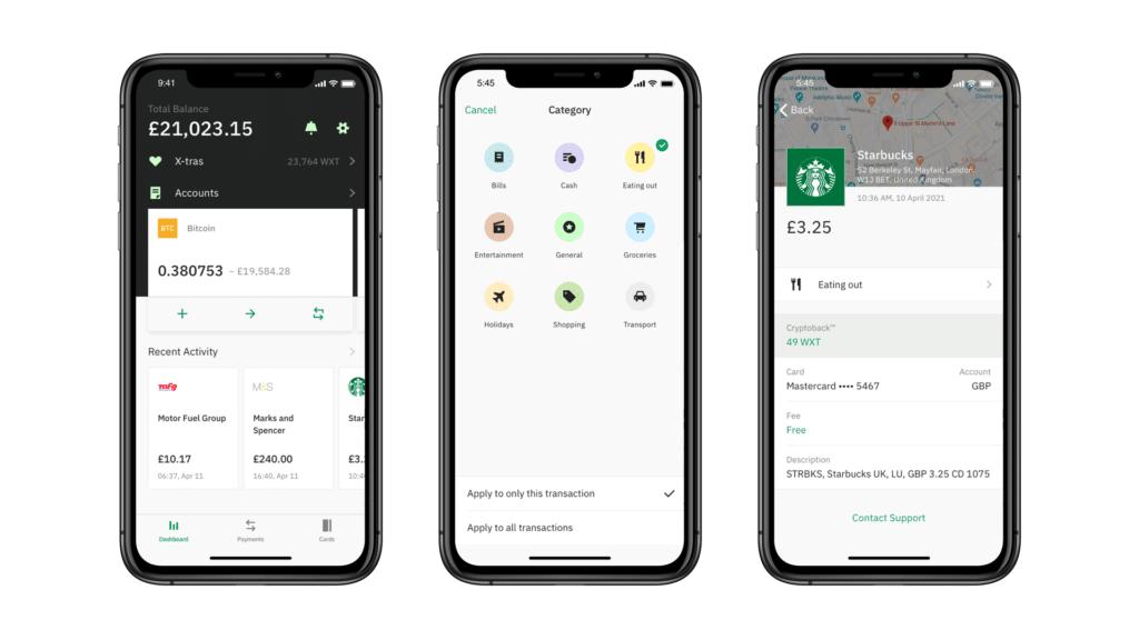 Wirex App: Phone Mockup