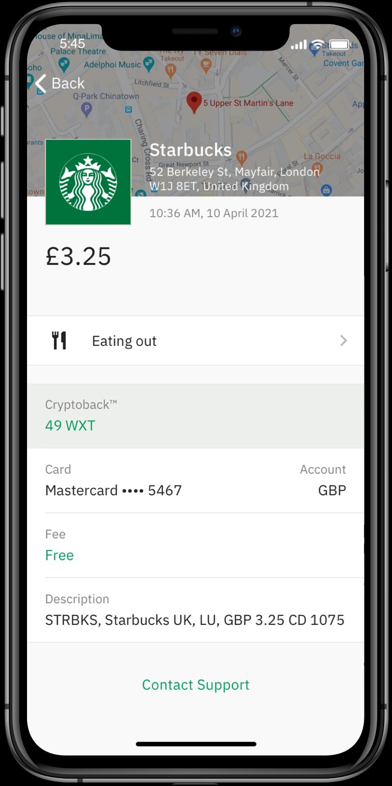 Wirex App: Transaction Details